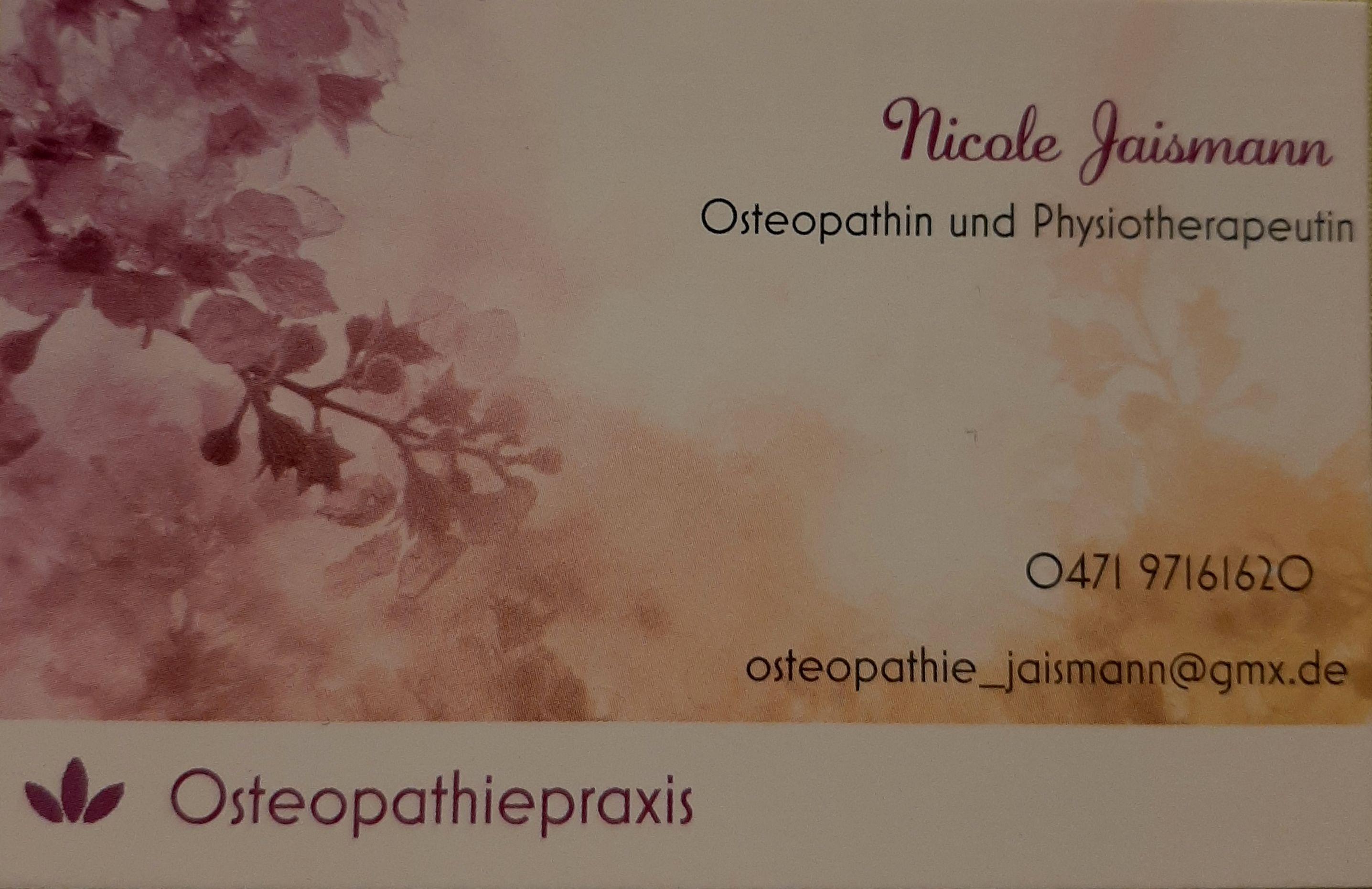 Osteopathiepraxis Nicole Jaismann
