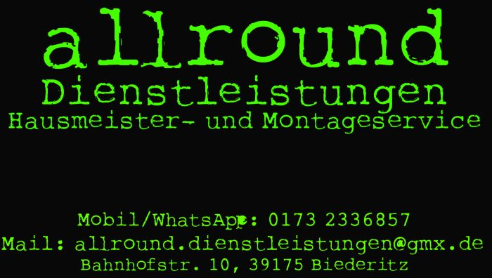 Florian von Hülsen - Hausmeister- und Montageservice