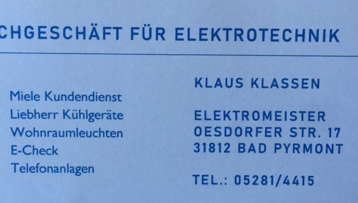 Elektrofachgeschäft