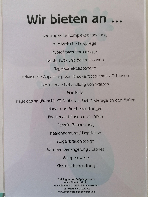 Podologie- und Fußpflegepraxis Am Mühlentor