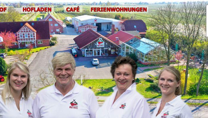 Obsthof Matthies mit Café, Hofladen & Ferienwohnung