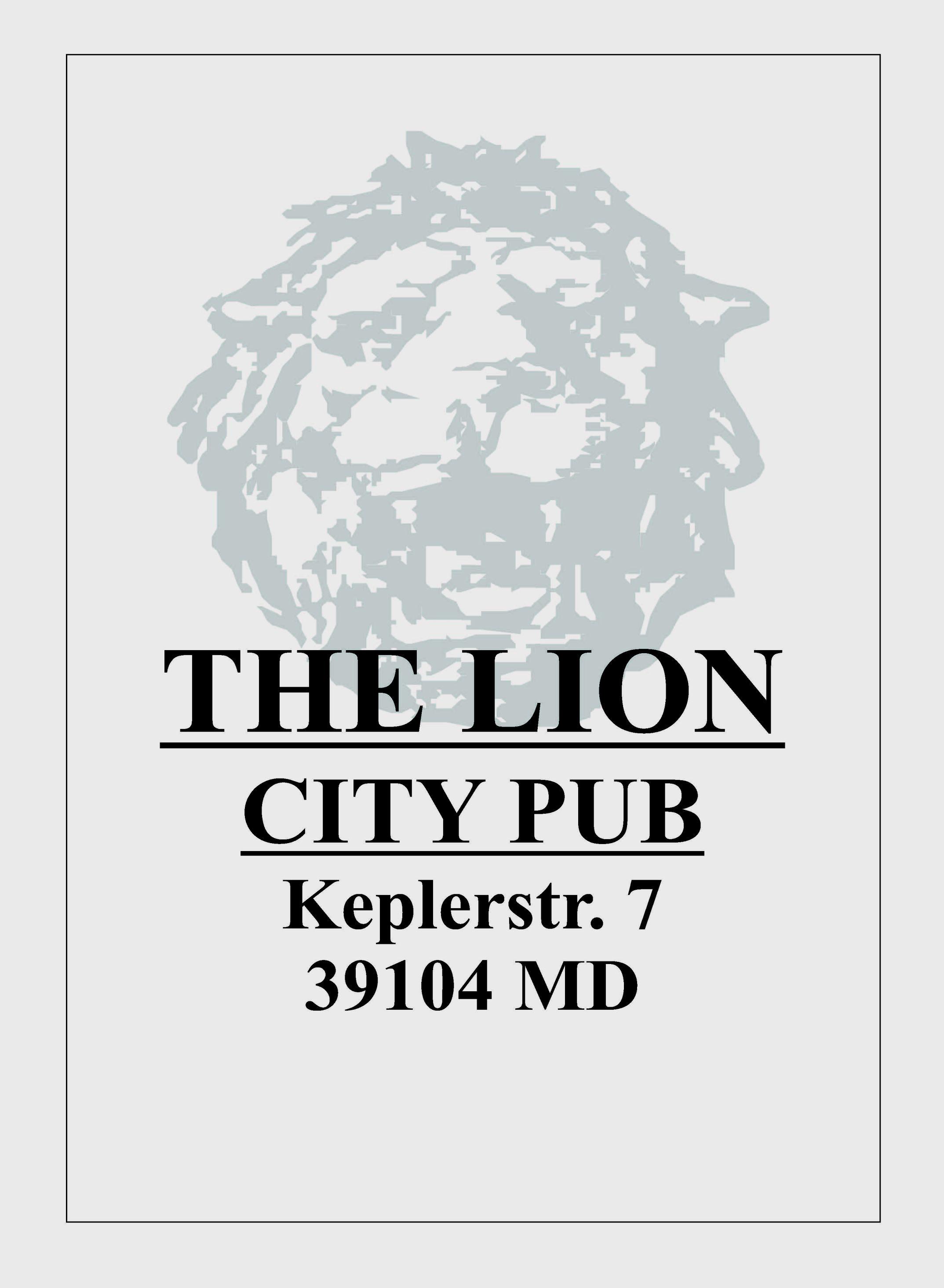 """""""The Lion - City Pub"""""""