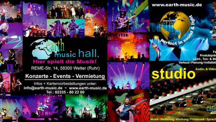 EARTH-MUSIC - Studio/Technik/Konzerthalle