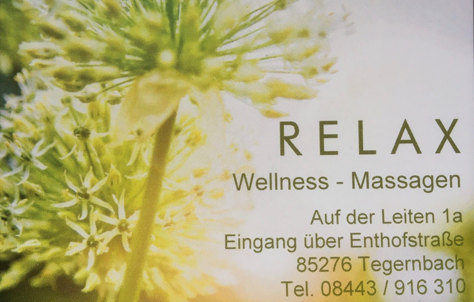 RELAX Wellness-Massagen Tegernbach
