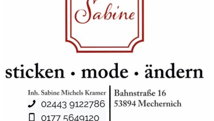 Sabine sticken Mode  ändern